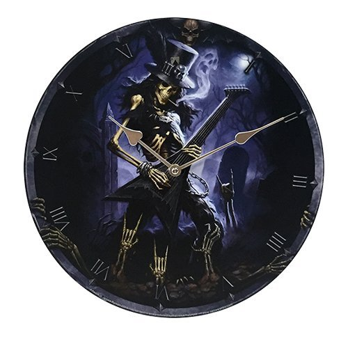 "Pacific Giftware Play Dead Wall Clock by James Ryman Gothic Round Plate 13.5"" D"