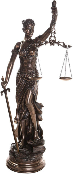 Pacific Giftware Large 48 Inch Lady Justice Scales Justice La Justitia Statue Lawyer Attorney Judge Collectible