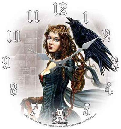 Tarot Queen Decor Wall Clock Round Plate Diameter 13.5""