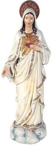 Immaculate Heart of Mary Madonna Sacred Religious Figurine Collectible 12 Inch