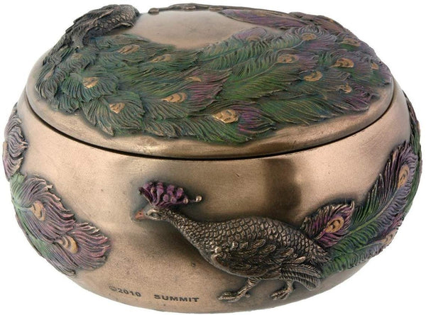 Art Nouveau Collectible Peacock Box Collectible Figure Container