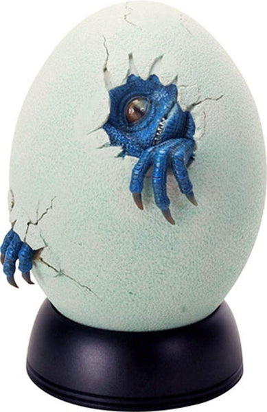Off White and Light Green Colored Blue Baby Dinosaur Egg Hatchling