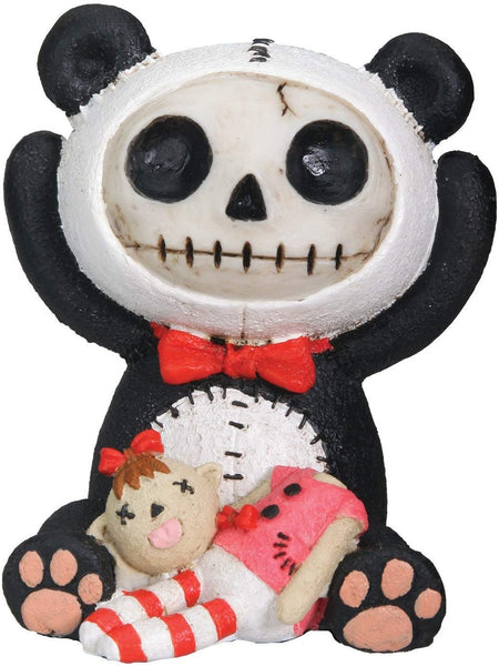 Furrybones Pandie Signature Skeleton in Innocent Panda Bear Costume with Beheaded Doll