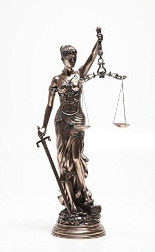 31.5 Inch Large Lady Justice with Scales and Sword Statue Figurine