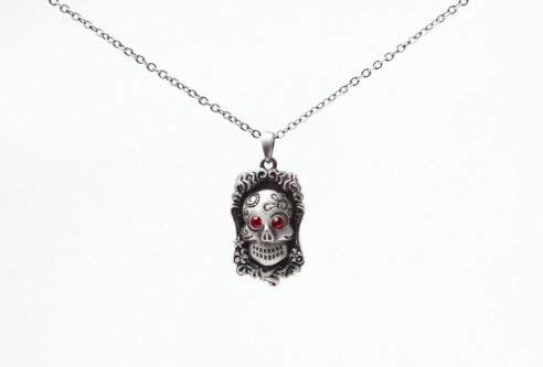 Lead-free pewter Necklace - Skull