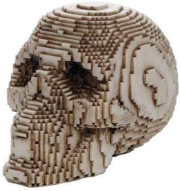 Pacific Giftware 3D Pixelated Skull Collectible Desktop Figurine Gift 4 Inch