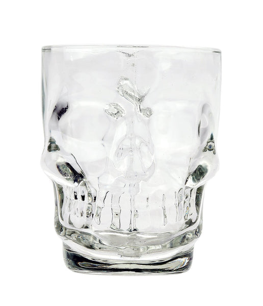 Pacific Giftware Novelty Glass Skull Face Drinking Mug 13oz Beer Juice Water Drinking Glasses