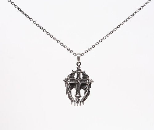 Lead Free Alloy Cross Angelic Wing Necklace