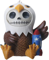 SUMMIT COLLECTION Furrybones Baldie Signature Skeleton in Bald Eagle Costume with Firework