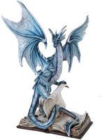 Pacific Giftware Large Spellbound Dragon Protecting the Secrets Book of Spells Figurine 18 Inch