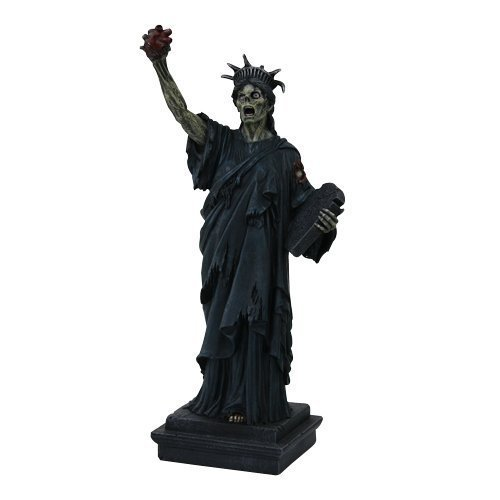 "PTC Zombie Statue of Liberty Statue Figurine, 11"" H, Resin Painted"