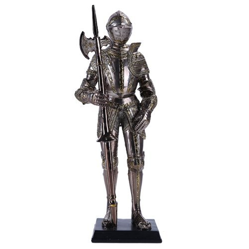 "Pacific Giftware 13"" Tall Medieval Knight Statue Figurine Suit of Armor with Stand"