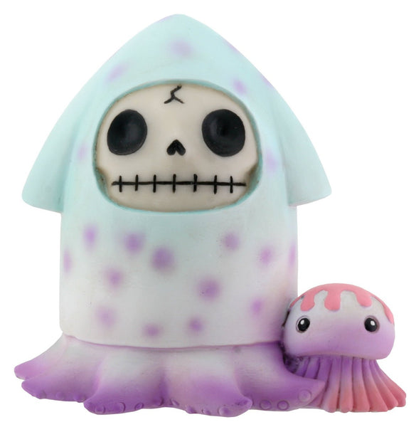 SUMMIT COLLECTION Furrybones Squeed Signature Skeleton in Squid Costume with Tiny Jelly Fish
