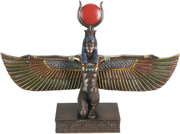 YTC Bronze Isis W/Open Wings Collectible Figurine Statue Sculpture Figure