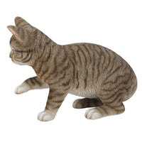 PACIFIC GIFTWARE Realistic Grey Tabby Cat Kitten Collectible Figurine 10 in