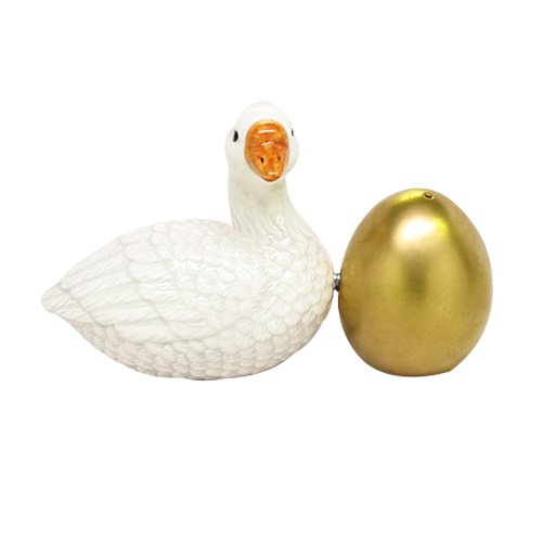 PACIFIC GIFTWARE Goose and Golden Egg Attractives Salt Pepper Shaker Made of Ceramic