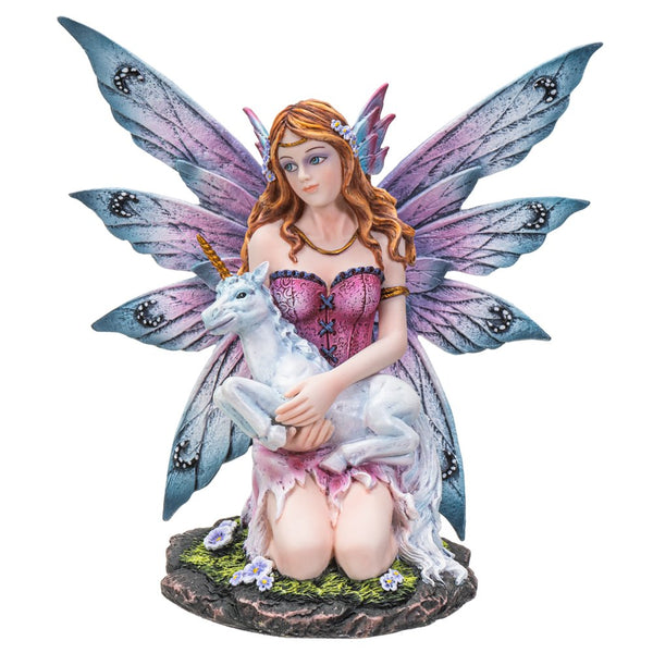 BOTEGA EXCLUSIVE  Fairy Princess with Unicorn Baby Collectible Figurine Statue