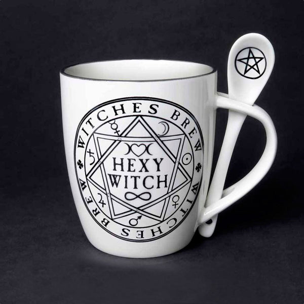 ALCHEMY ENGLAND DESIGN Witches Brew Hexy Witch Mug and Spoon