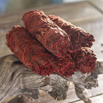 PACIFIC GIFTWARE Dragon's Blood Sage Smudge Sticks 4 Inch Long for Energy Cleansing, Meditation, Reiki, & Yoga - Pack of 5
