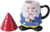 PACIFIC GIFTWARE Ceramic Cute Mr Gnome Lidded Mug