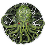 PACIFIC GIFTWARE Cthulhu Round Wall Plaque Designed by Oberon Zell 5.75 Inches Dia""