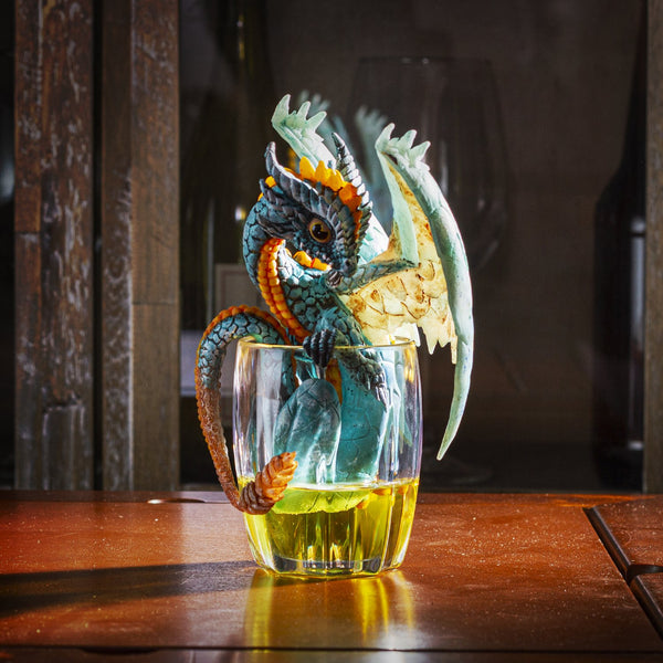 "STANLEY MORRISON Fantasy Whiskey Dragon Collectible Figurine by Stanley Morrison 6.25""H"