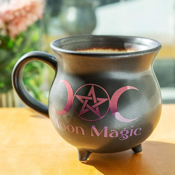 Moon Magic Witch Cauldron Glazing Ceramic Porcelain Coffee Mug Soup Bowl