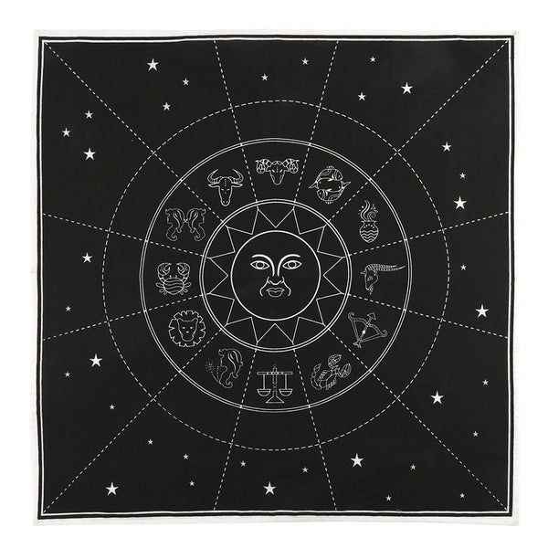 "BOTEGA EXCLUSIVE 27"" Star Sign Altar Cloth Black Negative Space Tapestry Wall Decor"