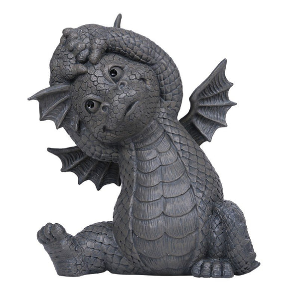 BOTEGA EXCLUSIVE Garden Dragon Yoga Exercise Dragon Garden Display Decorative Accent Sculpture Stone Finish 10 inch Tall