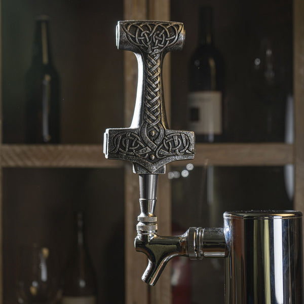 Norse Mythology Thor Hammer Sculpture Figurine Beer Tap Handle
