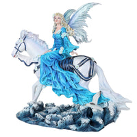 Euphoria Fairy on White Horse Figurine NeneThomas Collectible 12""