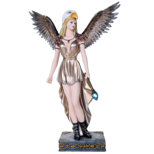 Fairyland Legends Eagle winged Goddess Fairy Figurine Collectible 12.3""