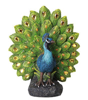 Majestic Peacock Dance Opening Feathers LED Lighted Decorative Indoor Outdoor