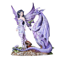 Fantasy Fairyland Dragons Are Romantic Statue by Artist Amy Brown Tabletop Decor