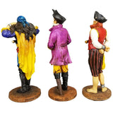 "Pirate See Hear Speak No Evil Decorative Shelf Sitter Figurines 5.5"" Set of 3"