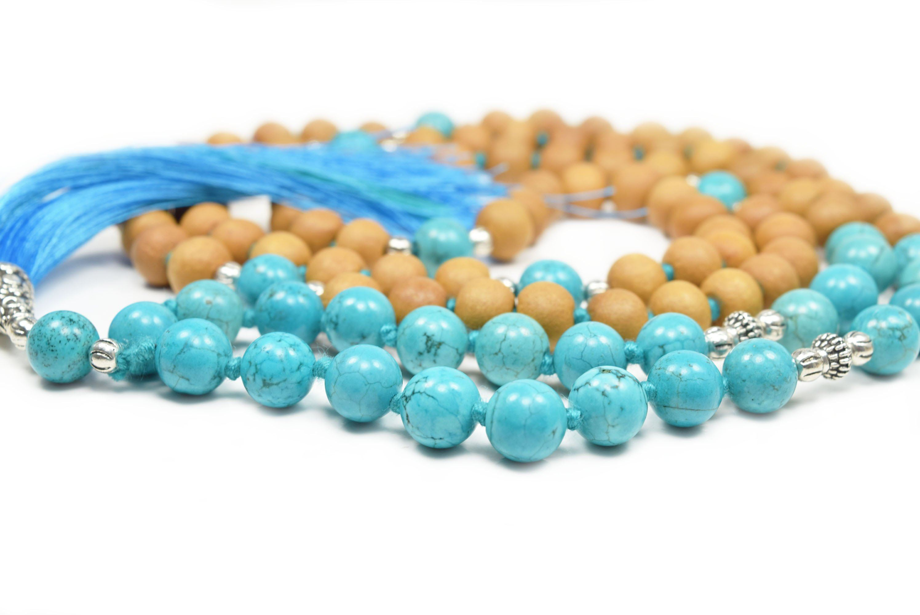 """Calm Waters"" Mala bead Necklace Eastern Drift"