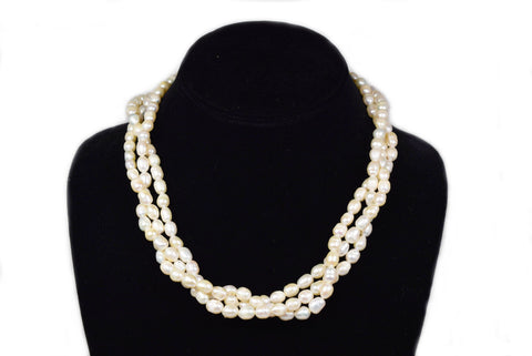 Purity White Baroque Freshwater Pearls