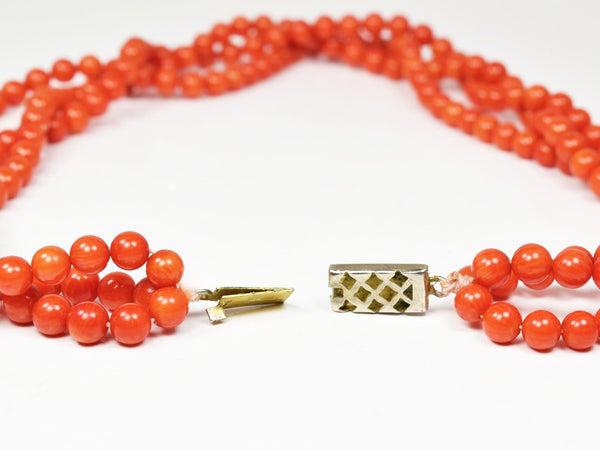 Garden of Life Red Coral Multi-Strand Necklace