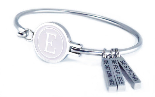 E-Logo and Eastern Drift Life Motivational and Inspirational Bracelets Eastern Drift Small 14-15 CM/ 5 1/2 - 6 Inches La Vie En Rose E Logo BE THE CHANGE