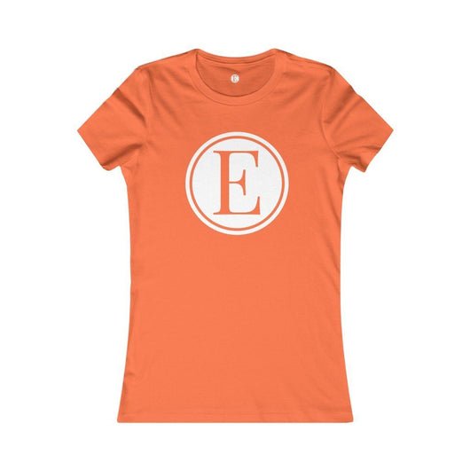 E-Logo Slim Fit T-Shirt Printify Orange L