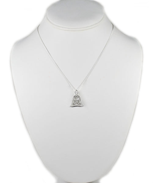 925 Sterling Silver Meditating Buddha Necklace Eastern Drift