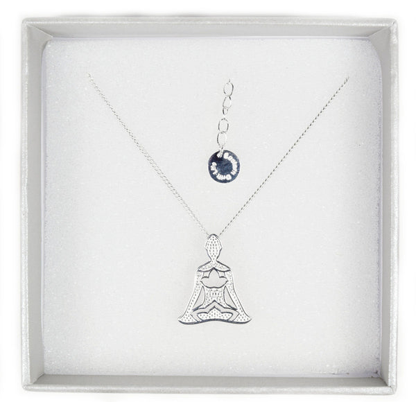 925 Sterling Silver Meditating Yogini Necklace