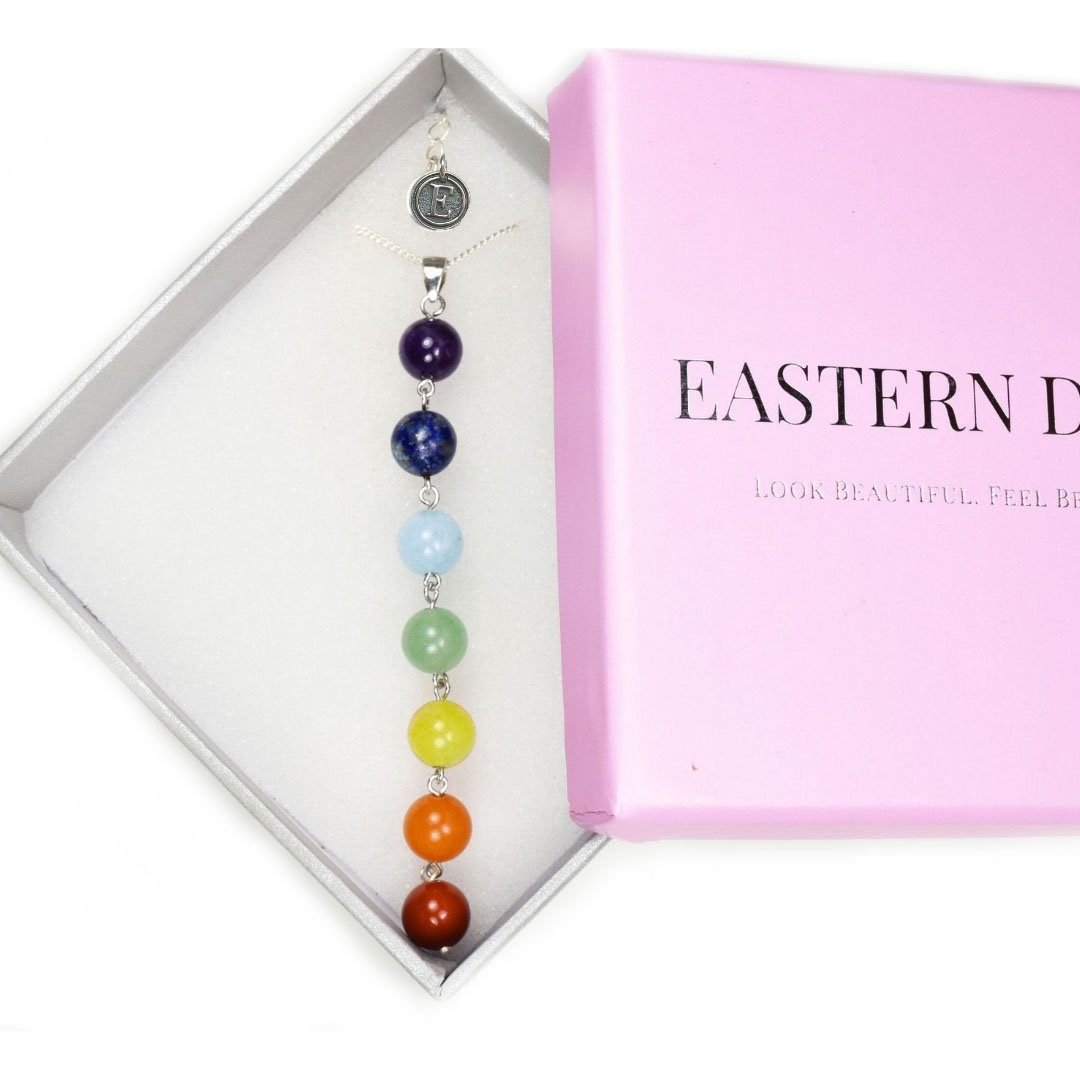 925 Sterling Silver Chakra Necklace Eastern Drift