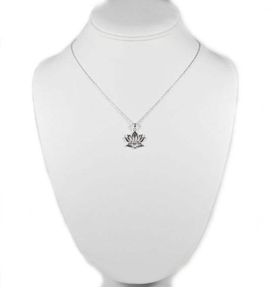 925 Sterling Silver Lotus Necklace Eastern Drift