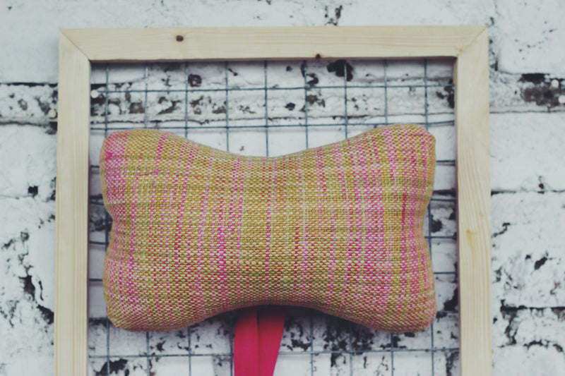 Pink & Yellow Car Headrest
