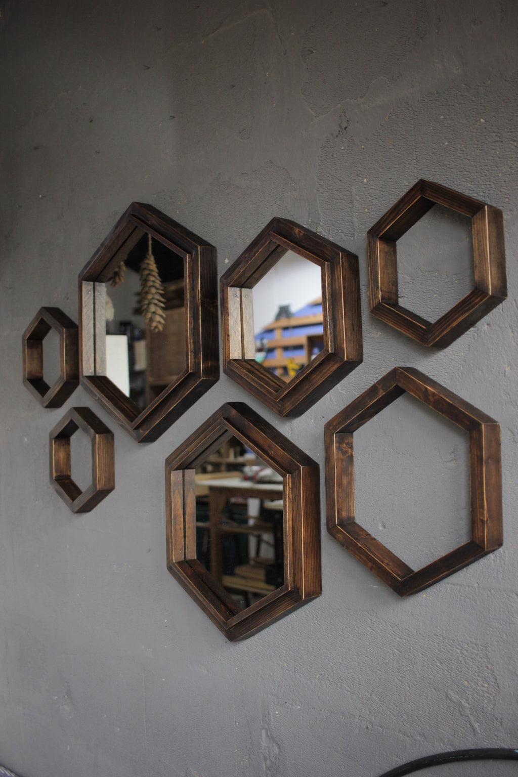 Hexagonal Mirror Frames
