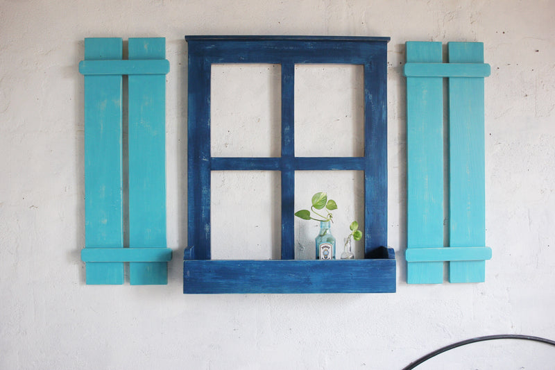 Farmhouse Window + Shutters