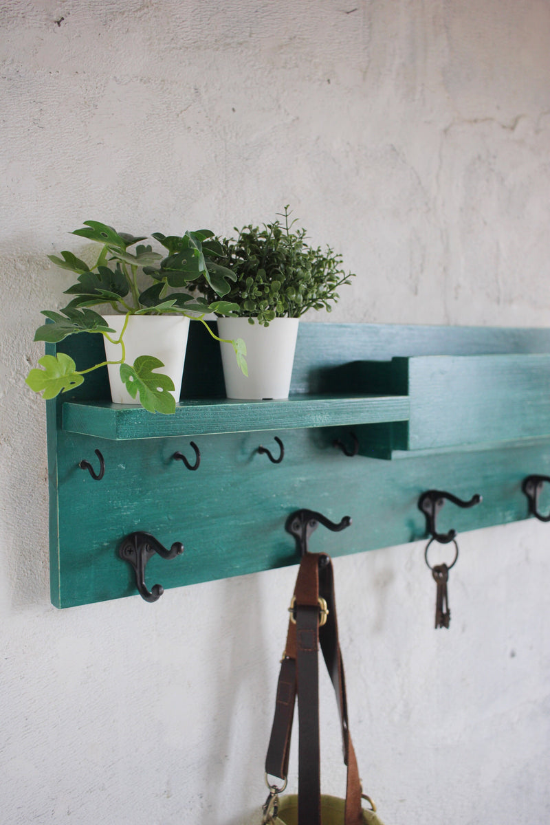 Entryway Organiser - Shelf + Mail + Hooks