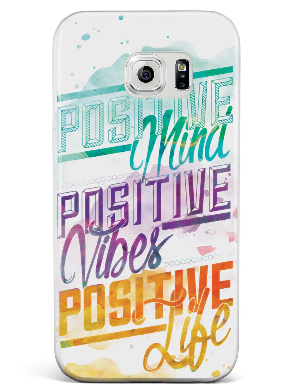 Positive Mind, Positive Vibes, Positive Life - Inspirational Quote Case - pipercleo.com