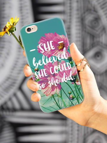 So She Did - Flower background Case